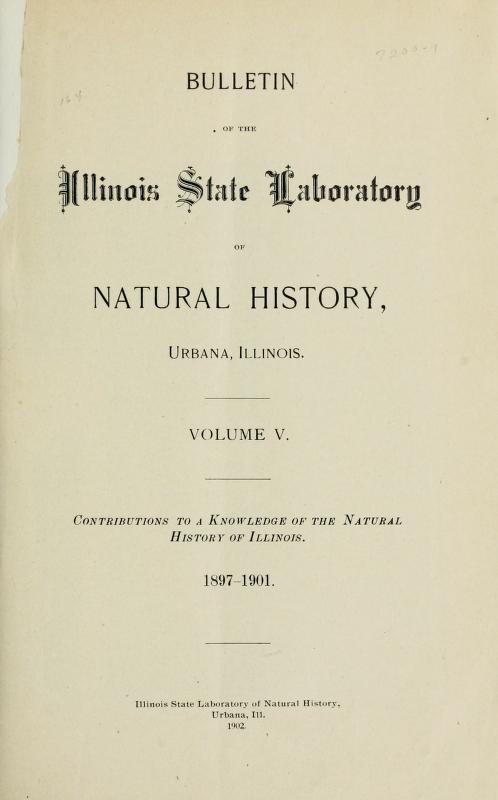 Title page of Bulletin V