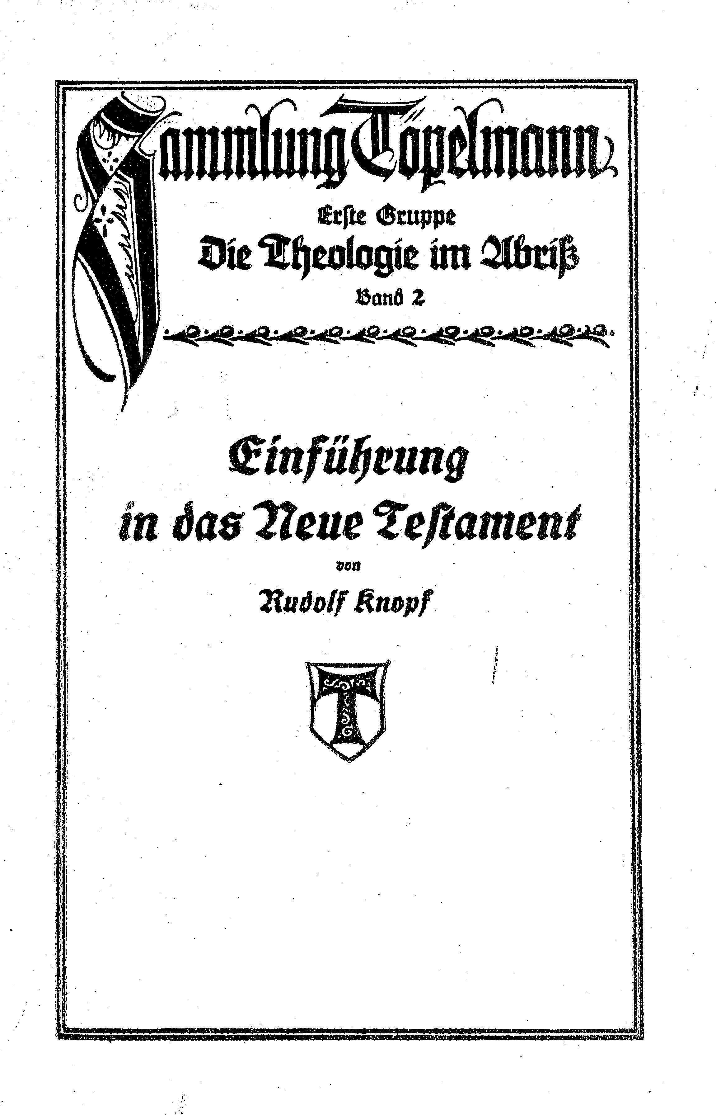 Cover of: Einführung in das Neue Testament