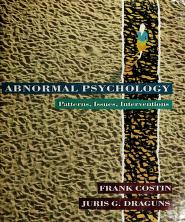 Cover of: Abnormal psychology | Frank Costin