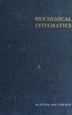 Cover of: Biochemical systematics | Ralph E. Alston