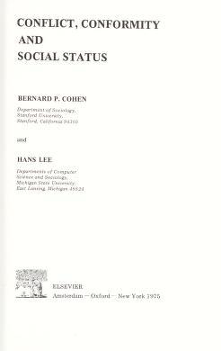 Cover of: Conflict, conformity, and social status   Bernard P. Cohen