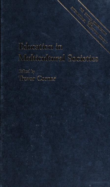 Education in multicultural societies by Trevor Corner