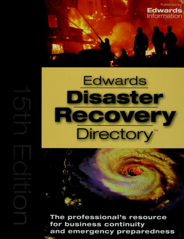 Edward's disaster recovery directory by Edwards Information LLC