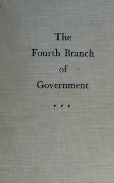 Cover of: The fourth branch of Government. | Douglass Cater