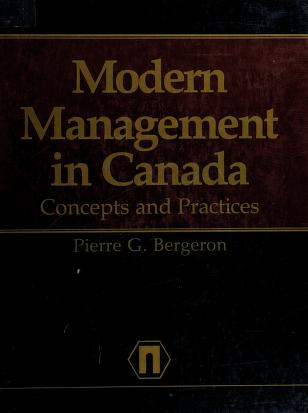Cover of: Modern management in Canada | Pierre G. Bergeron