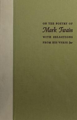 Cover of: On the poetry of Mark Twain | Mark Twain