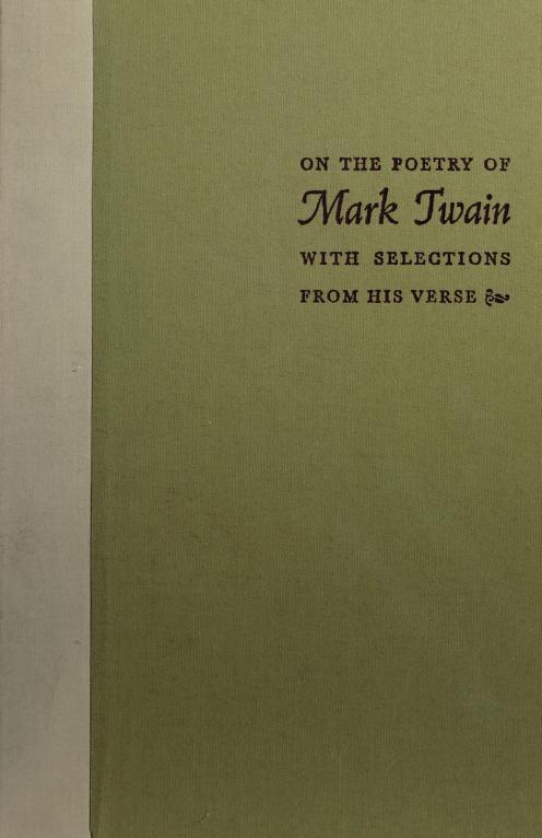 On the poetry of Mark Twain by Mark Twain