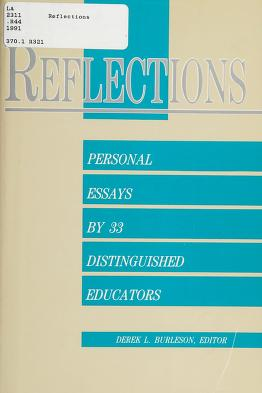 Cover of: Reflections | Derek L. Burleson, editor.