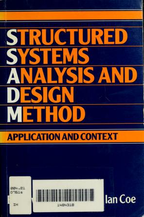 Cover of: Structured systems analysis and design method | Ed Downs