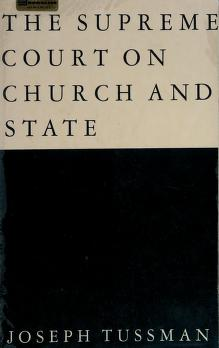 Cover of: The Supreme Court on church & state | United States. Supreme Court.