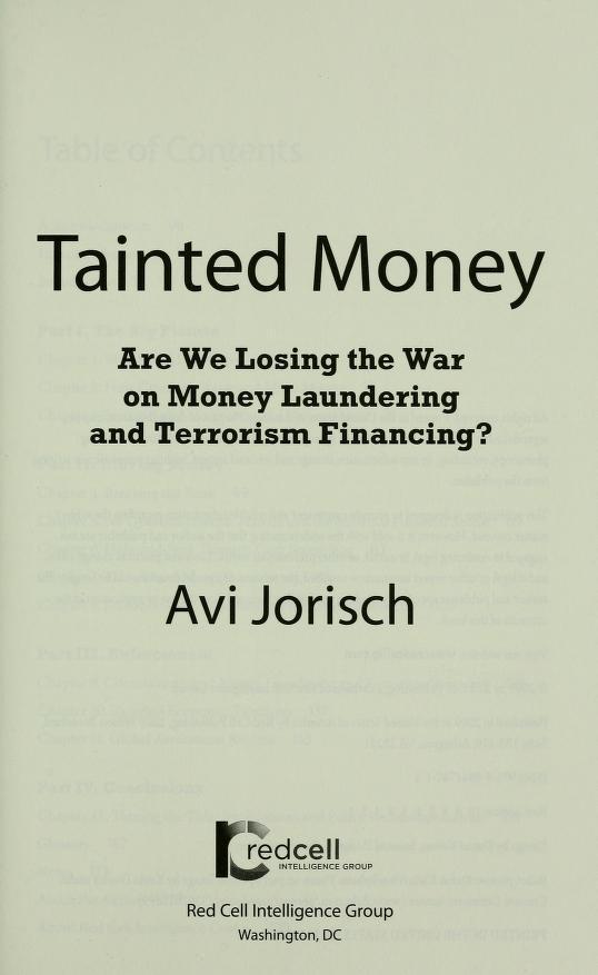 Tainted money by Avi Jorisch