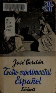 Cover of: Teatro experimental español  